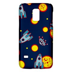Rocket Ufo Moon Star Space Planet Blue Circle Galaxy S5 Mini by Mariart