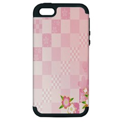 Sakura Flower Floral Pink Star Plaid Wave Chevron Apple Iphone 5 Hardshell Case (pc+silicone) by Mariart