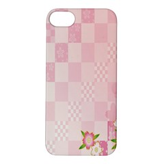 Sakura Flower Floral Pink Star Plaid Wave Chevron Apple iPhone 5S/ SE Hardshell Case
