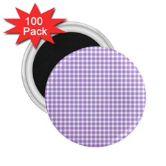 Plaid Purple White Line 2 25  Magnets (100 Pack)  by Mariart