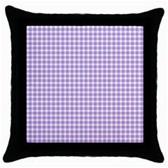 Plaid Purple White Line Throw Pillow Case (black) by Mariart