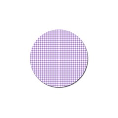 Plaid Purple White Line Golf Ball Marker (4 Pack) by Mariart