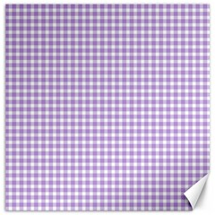 Plaid Purple White Line Canvas 16  X 16   by Mariart