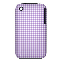 Plaid Purple White Line Iphone 3s/3gs by Mariart
