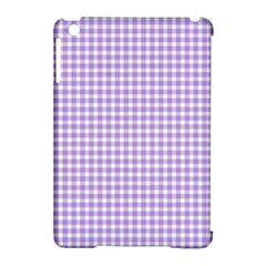 Plaid Purple White Line Apple Ipad Mini Hardshell Case (compatible With Smart Cover) by Mariart