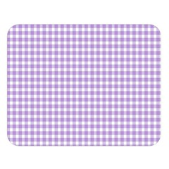 Plaid Purple White Line Double Sided Flano Blanket (large)  by Mariart