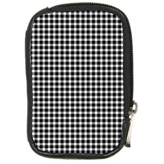 Plaid Black White Line Compact Camera Cases by Mariart