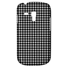 Plaid Black White Line Galaxy S3 Mini by Mariart