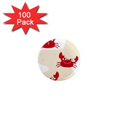 Sand Animals Red Crab 1  Mini Magnets (100 Pack)  by Mariart