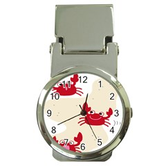 Sand Animals Red Crab Money Clip Watches by Mariart
