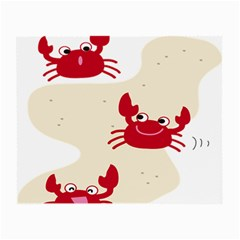 Sand Animals Red Crab Small Glasses Cloth (2 Side) by Mariart