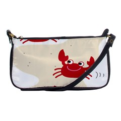 Sand Animals Red Crab Shoulder Clutch Bags by Mariart