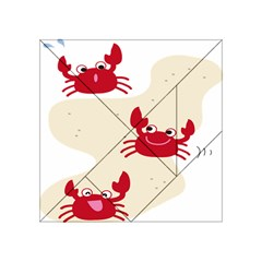 Sand Animals Red Crab Acrylic Tangram Puzzle (4  X 4 ) by Mariart