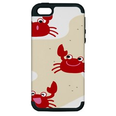Sand Animals Red Crab Apple Iphone 5 Hardshell Case (pc+silicone) by Mariart