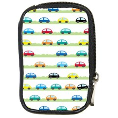 Small Car Red Yellow Blue Orange Black Kids Compact Camera Cases by Mariart