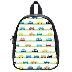 Small Car Red Yellow Blue Orange Black Kids School Bags (small)  by Mariart