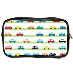 Small Car Red Yellow Blue Orange Black Kids Toiletries Bags by Mariart