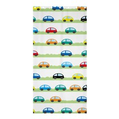 Small Car Red Yellow Blue Orange Black Kids Shower Curtain 36  X 72  (stall)  by Mariart