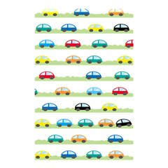 Small Car Red Yellow Blue Orange Black Kids Shower Curtain 48  X 72  (small)  by Mariart