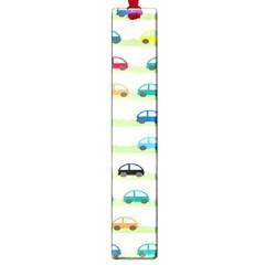 Small Car Red Yellow Blue Orange Black Kids Large Book Marks by Mariart