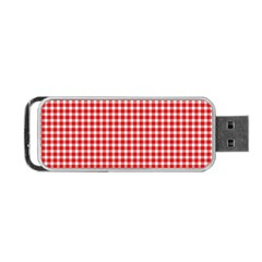 Plaid Red White Line Portable Usb Flash (one Side) by Mariart