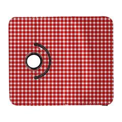 Plaid Red White Line Galaxy S3 (flip/folio) by Mariart