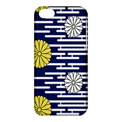 Sunflower Line Blue Yellpw Apple Iphone 5c Hardshell Case by Mariart