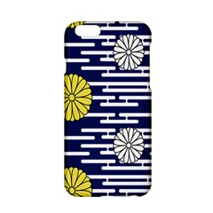 Sunflower Line Blue Yellpw Apple Iphone 6/6s Hardshell Case by Mariart