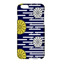 Sunflower Line Blue Yellpw Apple Iphone 6 Plus/6s Plus Hardshell Case by Mariart