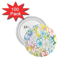 Star Flower Rainbow Sunflower Sakura 1 75  Buttons (100 Pack)  by Mariart