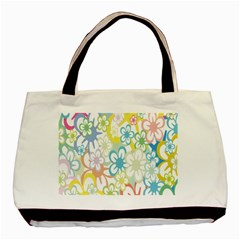 Star Flower Rainbow Sunflower Sakura Basic Tote Bag by Mariart