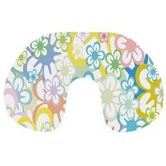 Star Flower Rainbow Sunflower Sakura Travel Neck Pillows by Mariart