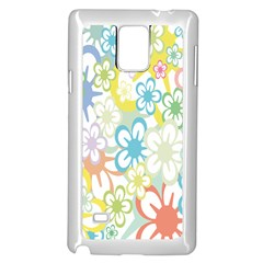 Star Flower Rainbow Sunflower Sakura Samsung Galaxy Note 4 Case (white) by Mariart