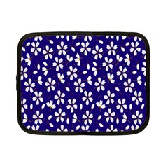 Star Flower Blue White Netbook Case (small)  by Mariart