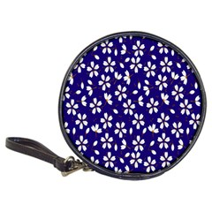 Star Flower Blue White Classic 20 Cd Wallets by Mariart
