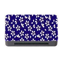 Star Flower Blue White Memory Card Reader With Cf by Mariart