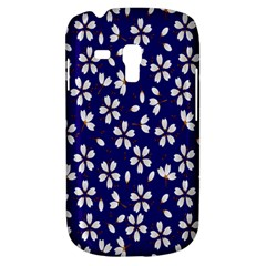 Star Flower Blue White Galaxy S3 Mini by Mariart