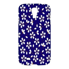 Star Flower Blue White Samsung Galaxy S4 I9500/i9505 Hardshell Case by Mariart