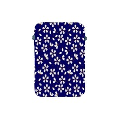 Star Flower Blue White Apple Ipad Mini Protective Soft Cases by Mariart