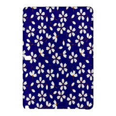 Star Flower Blue White Samsung Galaxy Tab Pro 10 1 Hardshell Case by Mariart