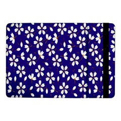 Star Flower Blue White Samsung Galaxy Tab Pro 10 1  Flip Case by Mariart