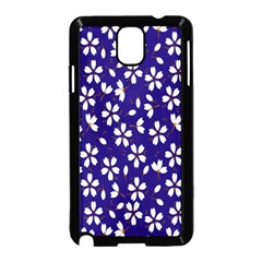 Star Flower Blue White Samsung Galaxy Note 3 Neo Hardshell Case (black) by Mariart