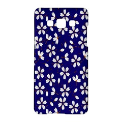 Star Flower Blue White Samsung Galaxy A5 Hardshell Case  by Mariart
