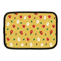 Tulip Sunflower Sakura Flower Floral Red White Leaf Green Netbook Case (medium)  by Mariart