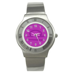 Zodizc Libra Purple Stainless Steel Watch
