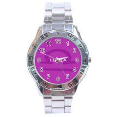 Zodizc Libra Purple Stainless Steel Analogue Watch by Mariart