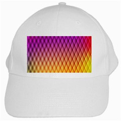 Triangle Plaid Chevron Wave Pink Purple Yellow Rainbow White Cap by Mariart
