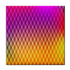 Triangle Plaid Chevron Wave Pink Purple Yellow Rainbow Tile Coasters by Mariart