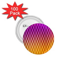 Triangle Plaid Chevron Wave Pink Purple Yellow Rainbow 1 75  Buttons (100 Pack)  by Mariart