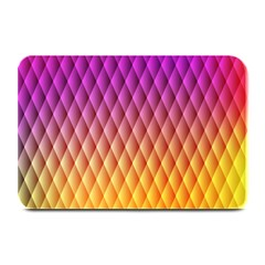 Triangle Plaid Chevron Wave Pink Purple Yellow Rainbow Plate Mats by Mariart